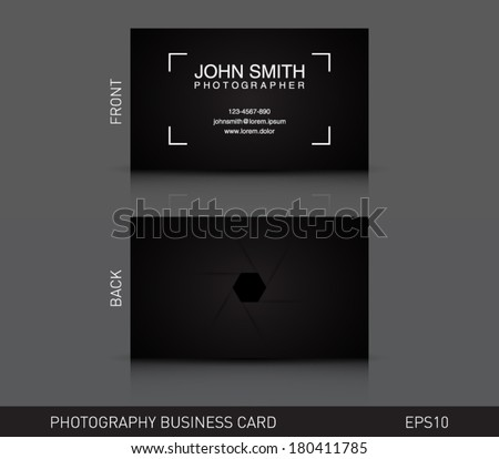 Photographer business card template download free vector art photographer business card template photography photo presentation logo logotype brand flashek Images