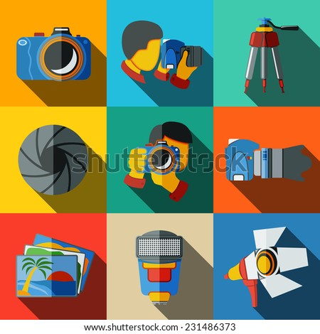 photographer colorful flat
