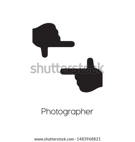 Photographer icon vector. Photographer symbol. Linear style sign for mobile concept and web design. Photographer symbol illustration. Pixel vector graphics - Vector.