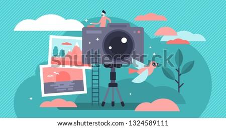 photographer occupation vector