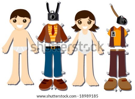 Photographer Paper Dolls - Vector