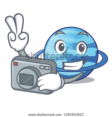 Photographer planet uranus in the cartoon form