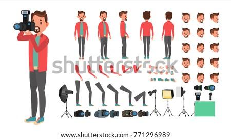 photographer vector taking