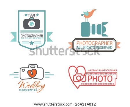 photography badges and labels