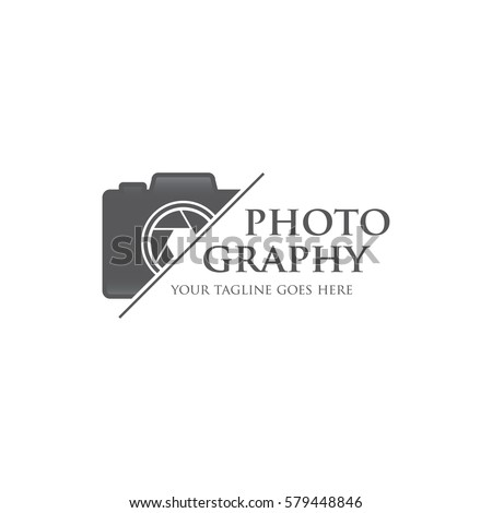 photography camera concept logo icon vector template