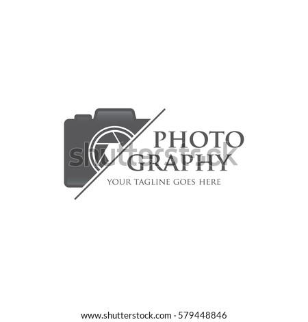 photography camera concept logo