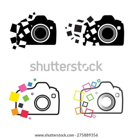 photography camera icons vector