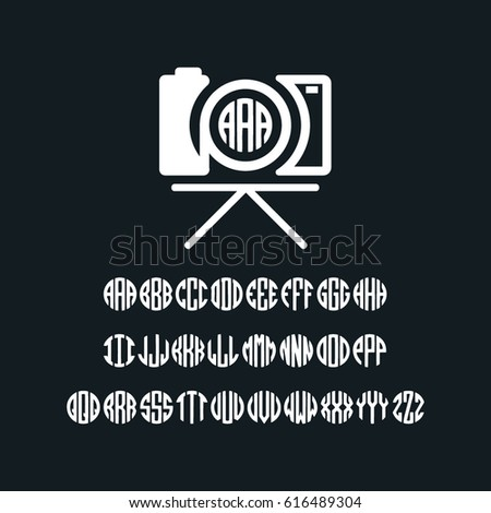 Photography Camera Monogram Logo Template