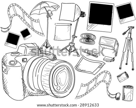 Photography Doodles - Vector