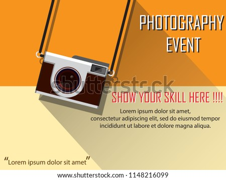 photography event concept for competitions and banners
