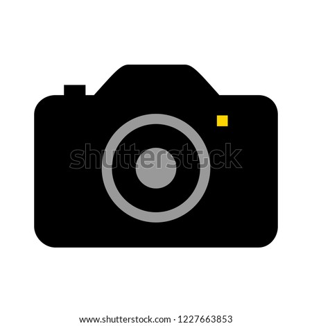 Photography icon  - digital camera illustration - photo & picture sign and symbol