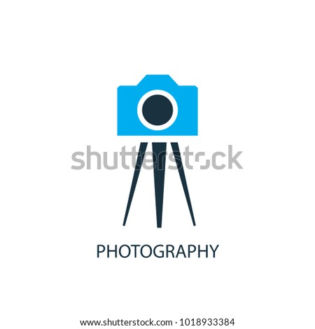Photography icon. Logo element illustration. Photography symbol design from 2 colored collection. Simple Photography concept. Can be used in web and mobile.