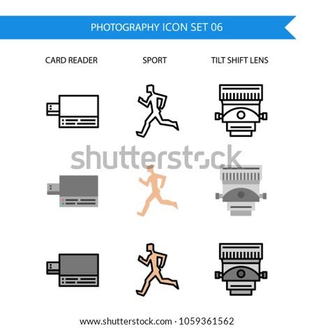 photography icon setcard