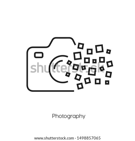 photography icon vector. photography symbol. Modern style sign for mobile concept and web design. photography symbol illustration.