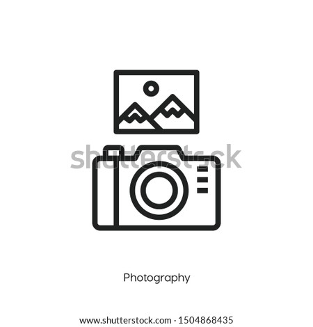 photography icon vector. photography symbol. Modern style sign for mobile concept and web design. camera illustration.