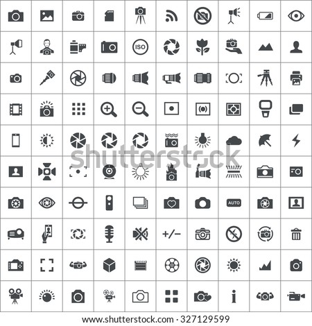 photography 100 icons universal