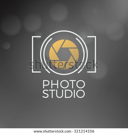 Photography Logo Design Template. Retro Vector Badge. Photo Studio