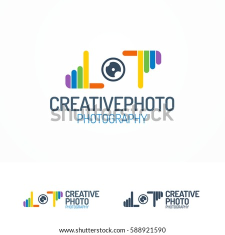 photography logo set with lens