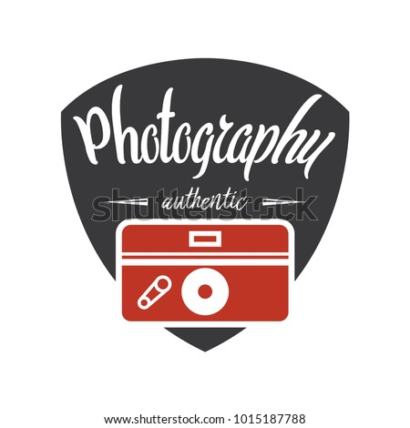 Photography Logos, Badges and Labels Design Elements set. Photo camera vintage style objects.
