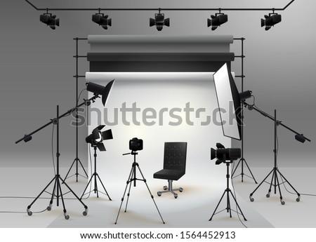 photography studio vector