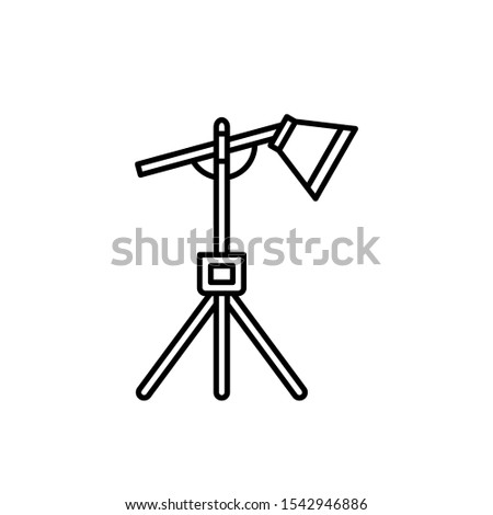 photography vector icon. lighting for photographing isolated white backgrounds. color can be changed. line style