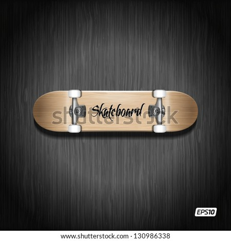 Photorealistic skateboard template