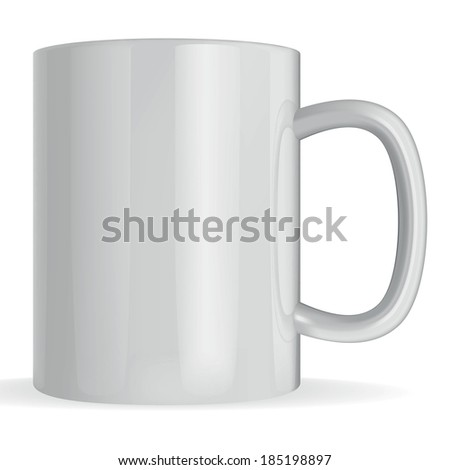 photorealistic vector big  cup  of white background #185198897