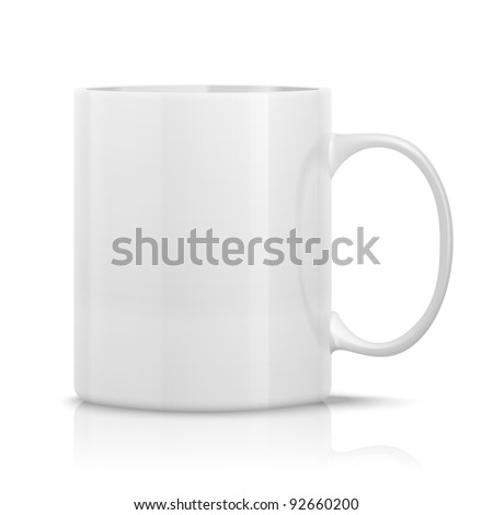 Shutterstock photorealistic white cup