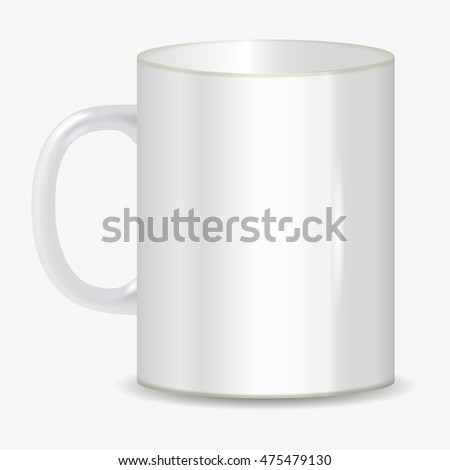 photorealistic white cup vector illustration on white background #475479130