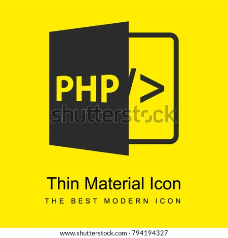 PHP bright yellow material minimal icon or logo design