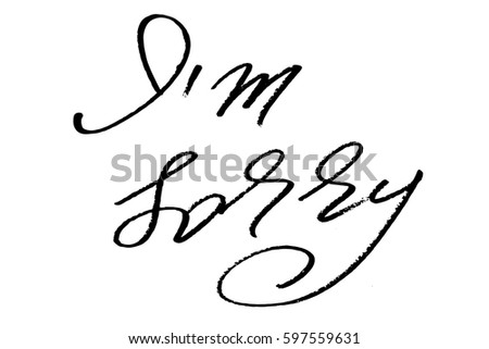 Free im sorry card vector download free vector art stock phrase apologize handwriting text im sorry handwritten black text isolated on white background thecheapjerseys Gallery