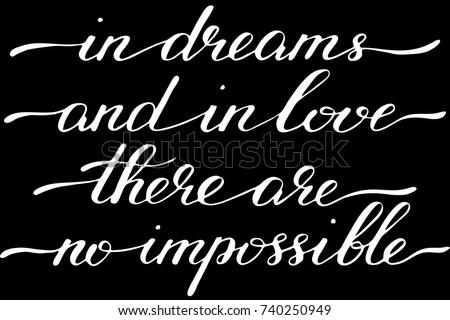 phrase in dreams and in love