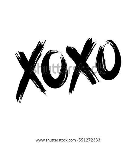 phrase xoxo  hugs and kisses