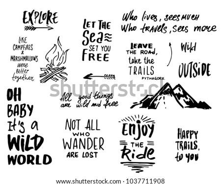 phrases about travel, trips and outdoor recreation / adventure / outdoor