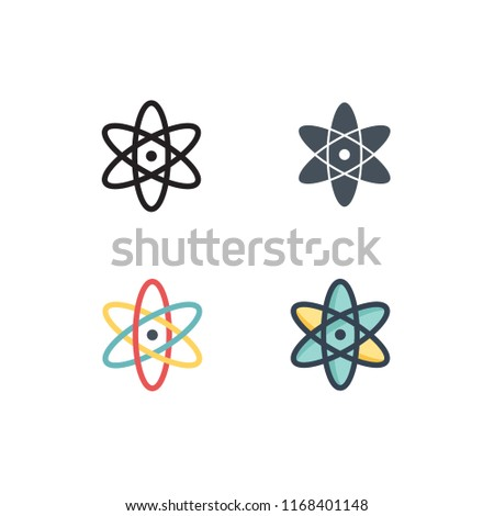 physic icons vector with four different styles