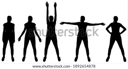 physical exercises girl stands