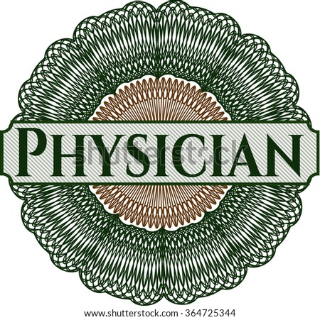 Physician abstract rosette