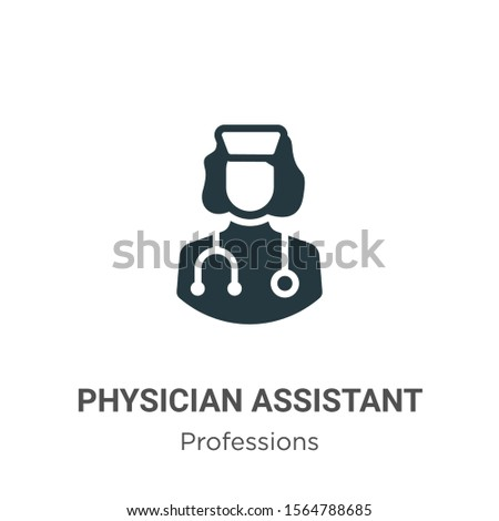 Physician assistant vector icon on white background. Flat vector physician assistant icon symbol sign from modern professions collection for mobile concept and web apps design.