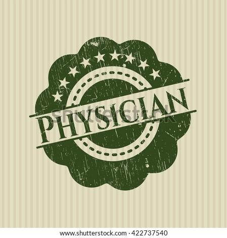 Physician grunge stamp