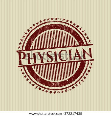 Physician grunge style stamp