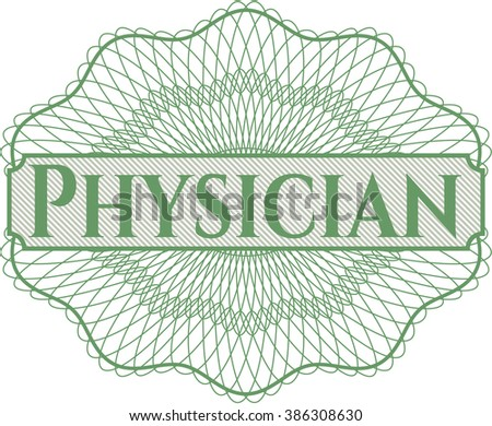 Physician money style rosette