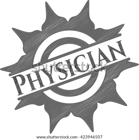 Physician pencil draw