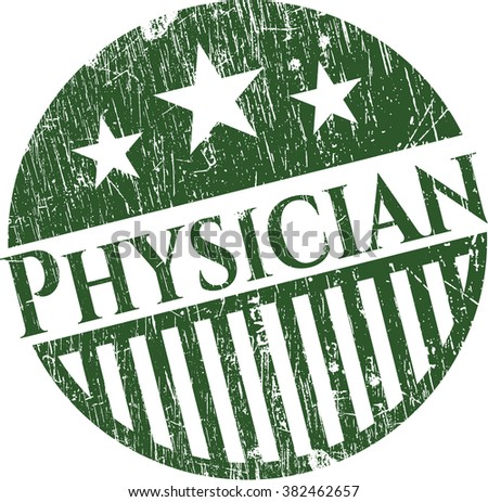 Physician rubber grunge stamp