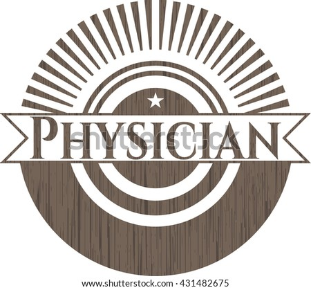 Physician vintage wood emblem