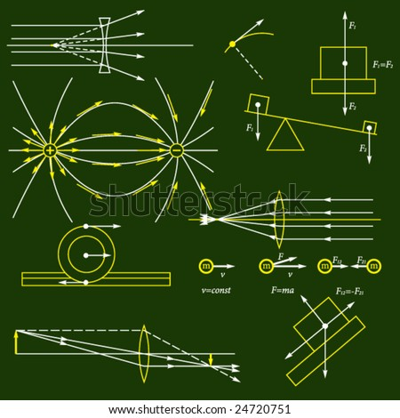 physics vector background