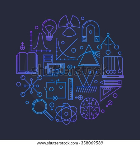 physics vector glossy