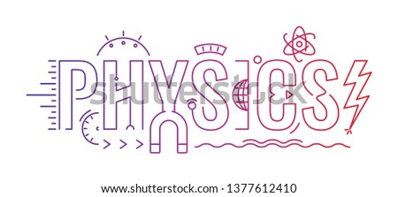 physics word concept. physics word infographic concept