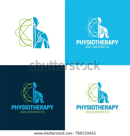 Physiotherapy and chiropractic logo and icon - Vector Illustration