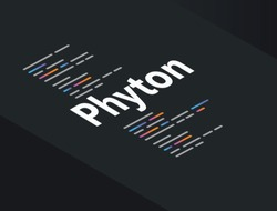Phyton application programming language coding software technology vector illustration
