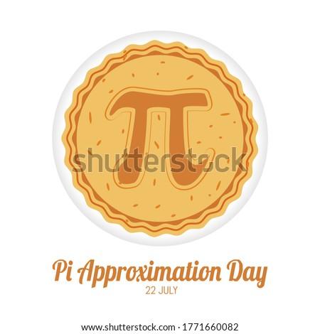 Pi Approximation Day Vector Illustration Zdjęcia stock ©